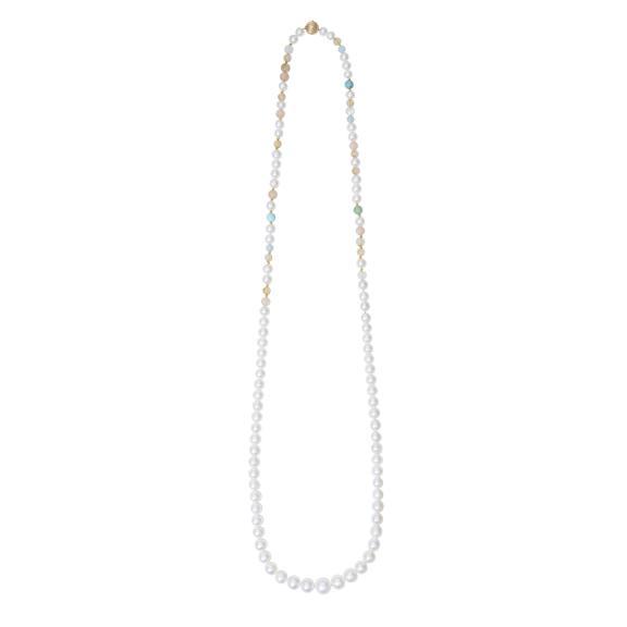 Ole Lynggaard Copenhagen-Süsswasserperlen Halskette mit Mischperlen ohne Verschluss-D9970-001