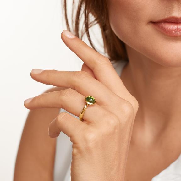 Tamara Comolli-BOUTON Ring small Peridot-R-BOU-s-Per-yg-4