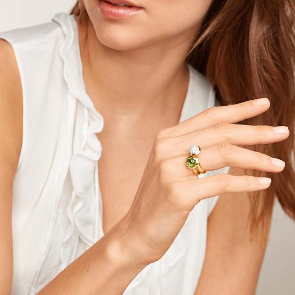 Tamara Comolli-BOUTON Ring small Peridot-R-BOU-s-Per-yg-5