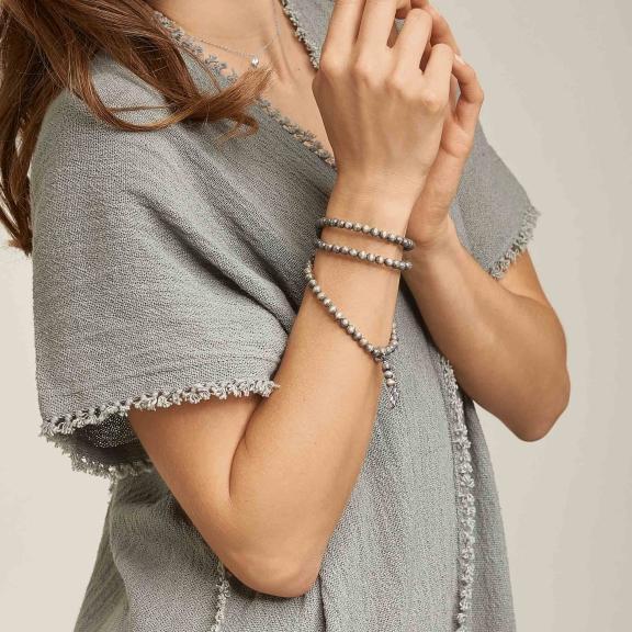 Tamara Comolli-INDIA Armband medium Greywood-B-IND-GW-m-wg-3