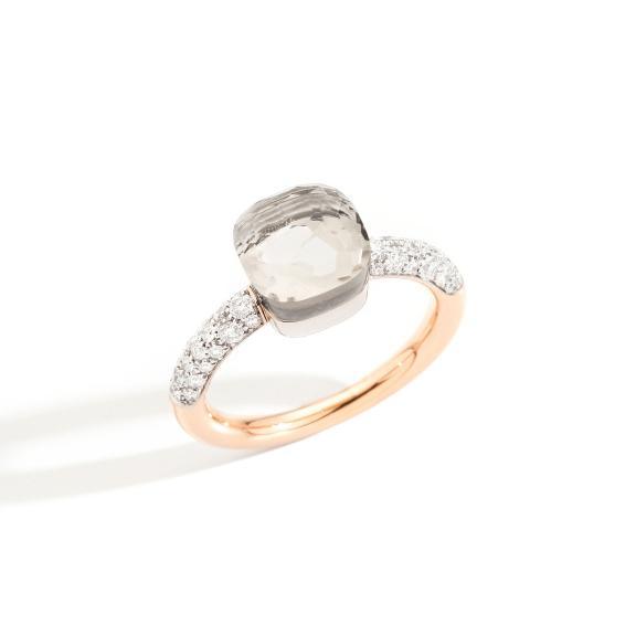 Pomellato-Nudo kleiner Ring-PAB7040O6WHRDB0TB