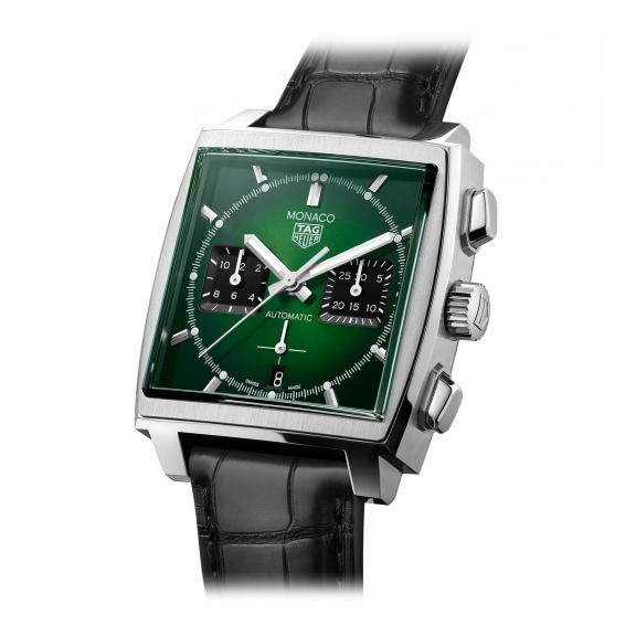TAG Heuer-Monaco mit grünem Zifferblatt-CBL2116.FC6497-2