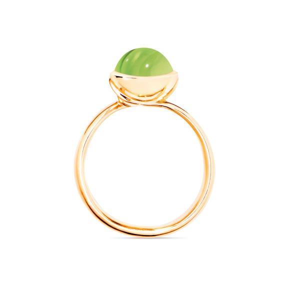 Tamara Comolli-BOUTON Ring small Peridot-R-BOU-s-Per-yg-2