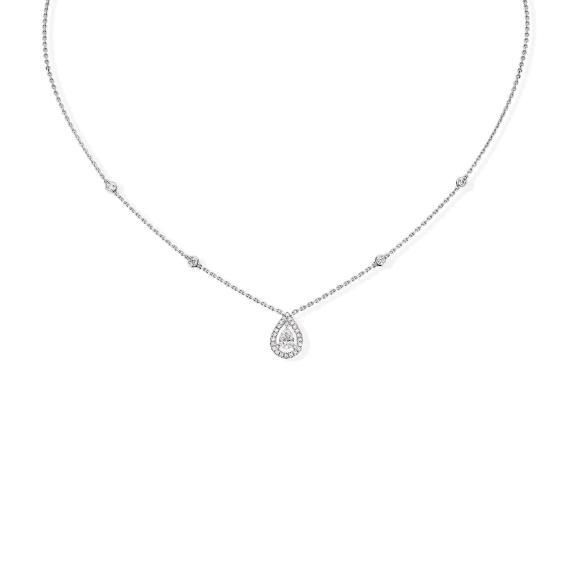 Messika-Joy Diamant Poire Collier-05224-WG