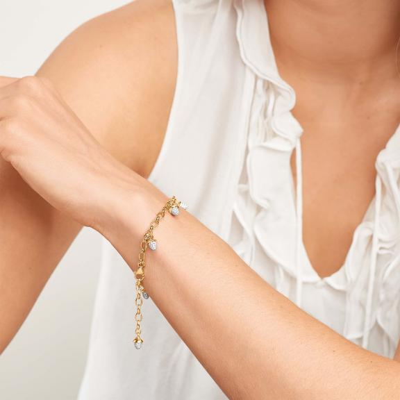 Tamara Comolli-Mikado Charm Diamant Pavé Armband-B-MC-ch-p-yg-3