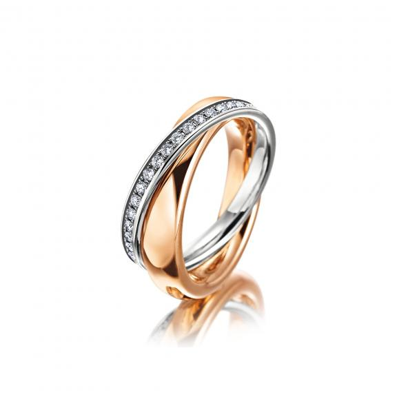 Meister-Women's Collection Ring in Rotgold und Platin-118.4957.00
