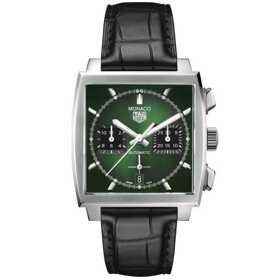 TAG Heuer-Monaco mit grünem Zifferblatt-CBL2116.FC6497-1
