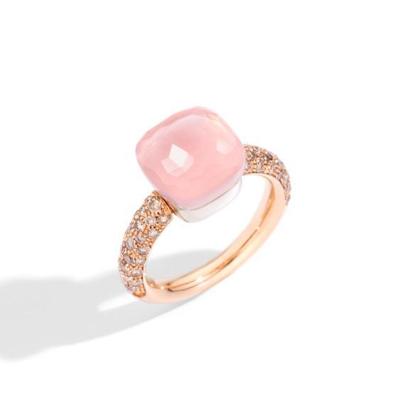 Pomellato-Nudo Rosenquarz Classic Ring-PAC0040O7000BRCQR